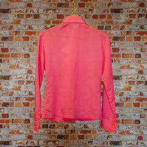 soft-pink-secondhand-blouse-on-hanger-back