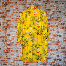 Load image into Gallery viewer, yellow-beach-fresh-vintage-shirt-on-hanger-back