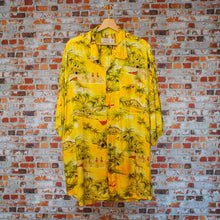 Load image into Gallery viewer, yellow-beach-fresh-vintage-shirt-on-hanger