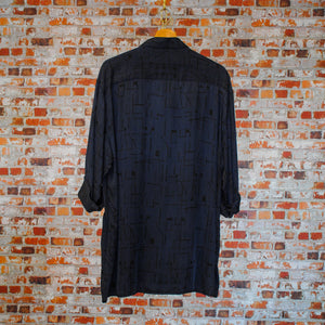 Blue-Silk-Fresh-Vintage-Shirt-On-Hanger-Back