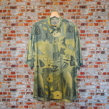 Load image into Gallery viewer, Aesthetic-vintage-shirt-in-khaki-and-beige-on-hanger