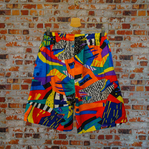 Funky-fresh-vintage-shorts-in-multi-colors-on-hanger-back