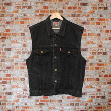 Load image into Gallery viewer, zwarte-tweedehands-jeans-gilet-voorkant