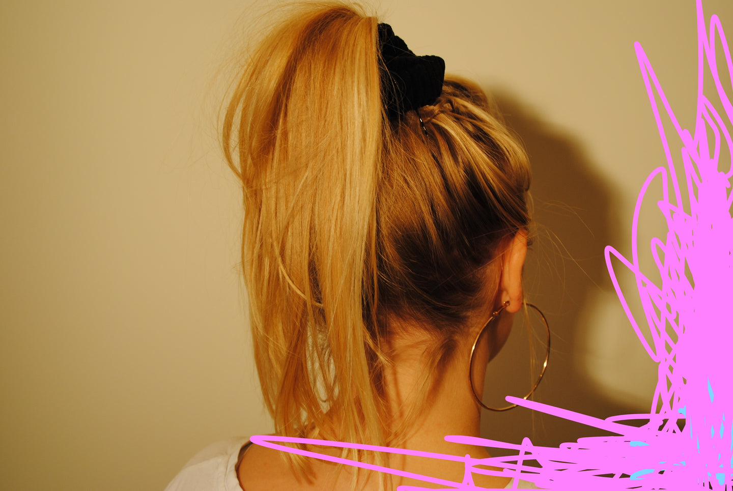 Handmade Black Scrunchie