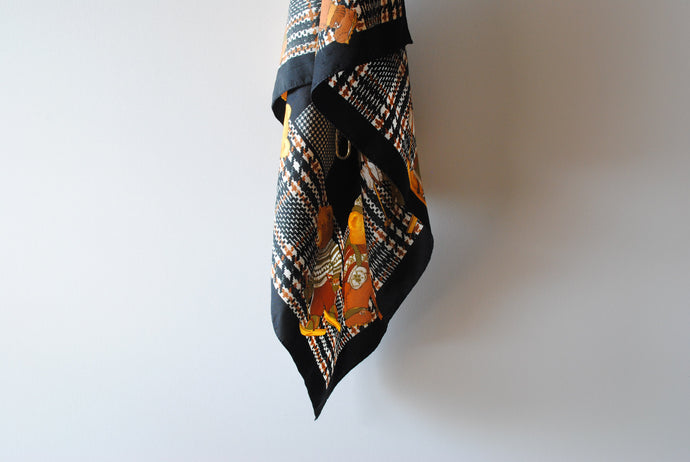 Black Brown Summer Scarf