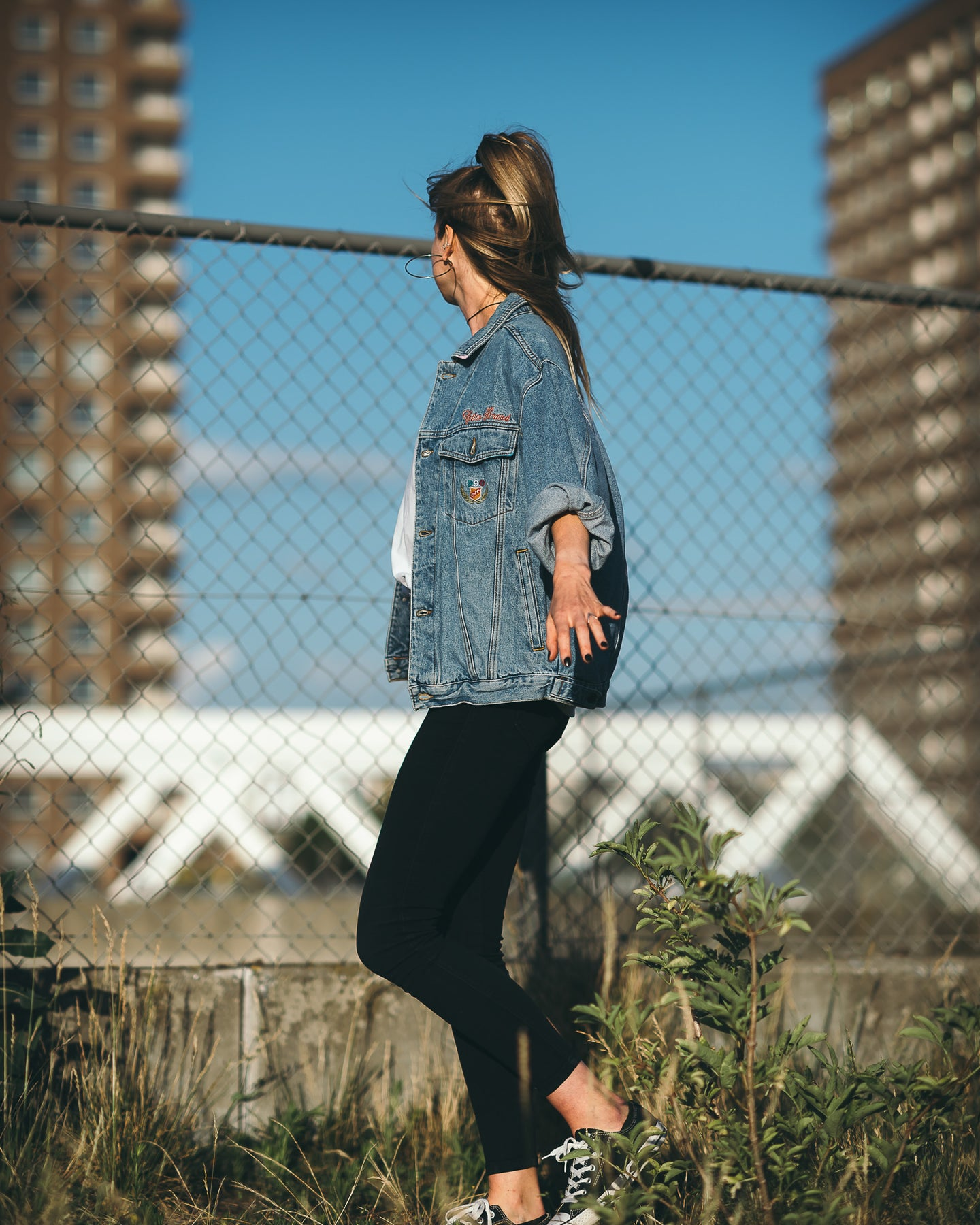 Soft Edge Oversized Jeans Jacket