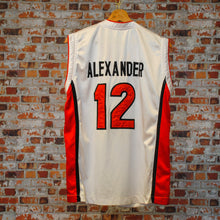 Load image into Gallery viewer, fresh-vintage-red-and-white-basketball-jersey-alexander-number-12-back