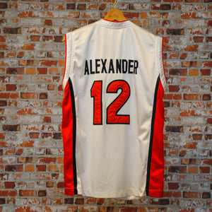 fresh-vintage-red-and-white-basketball-jersey-alexander-number-12-back