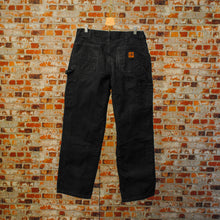 Load image into Gallery viewer, basic-zwarte-carhartt-jeans-achterkant