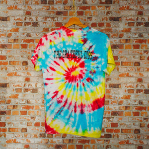 tweedehands-tie-dye-tshirt-van-frisco-youth-volleyball-league-coach-shirt-achterkant