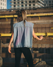 Load image into Gallery viewer, Soft Edge Sleeveless Jeans Jacket