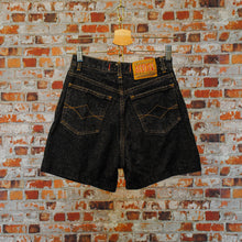 Load image into Gallery viewer, fresh-vintage-zwarte-jeans-short-achterkant
