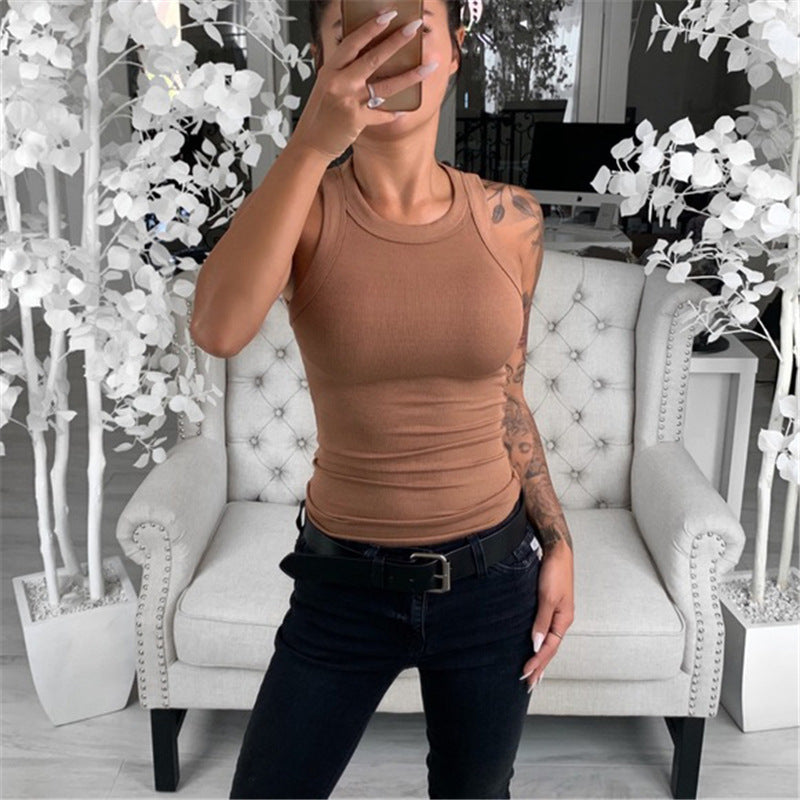 Women's Round Collar Tank Top