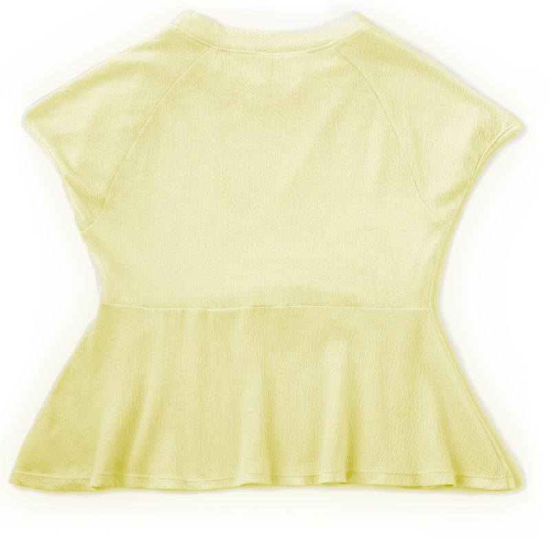 "LOUIE-Girls ""Elfin Yellow"" peplum Top"
