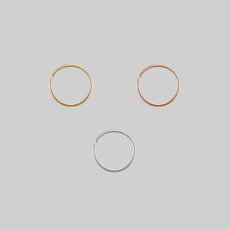 Gold Plated Sterling Silver Nose Ring UK Seller