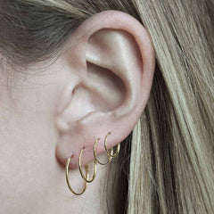 9ct Gold Hoops - 11mm