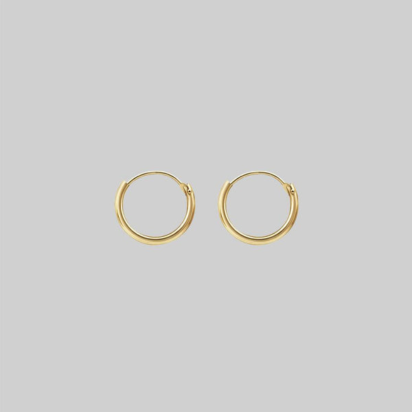 9K Gold Hoops - 11mm