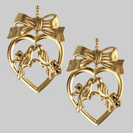 Love bird heart earrings