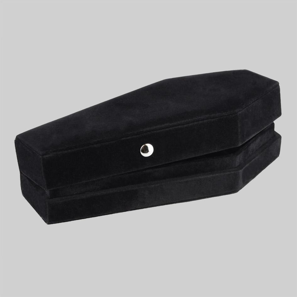 Black coffin jewellery box