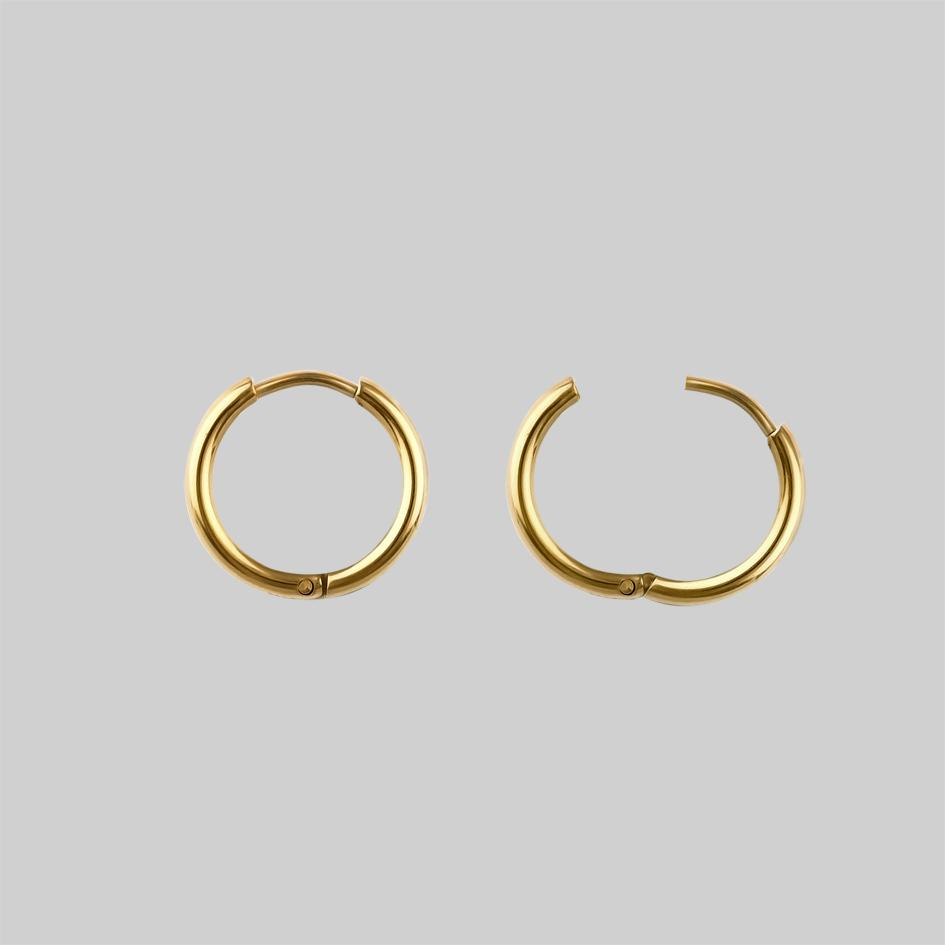 MERCY. Sword Hoop Earrings - Gold