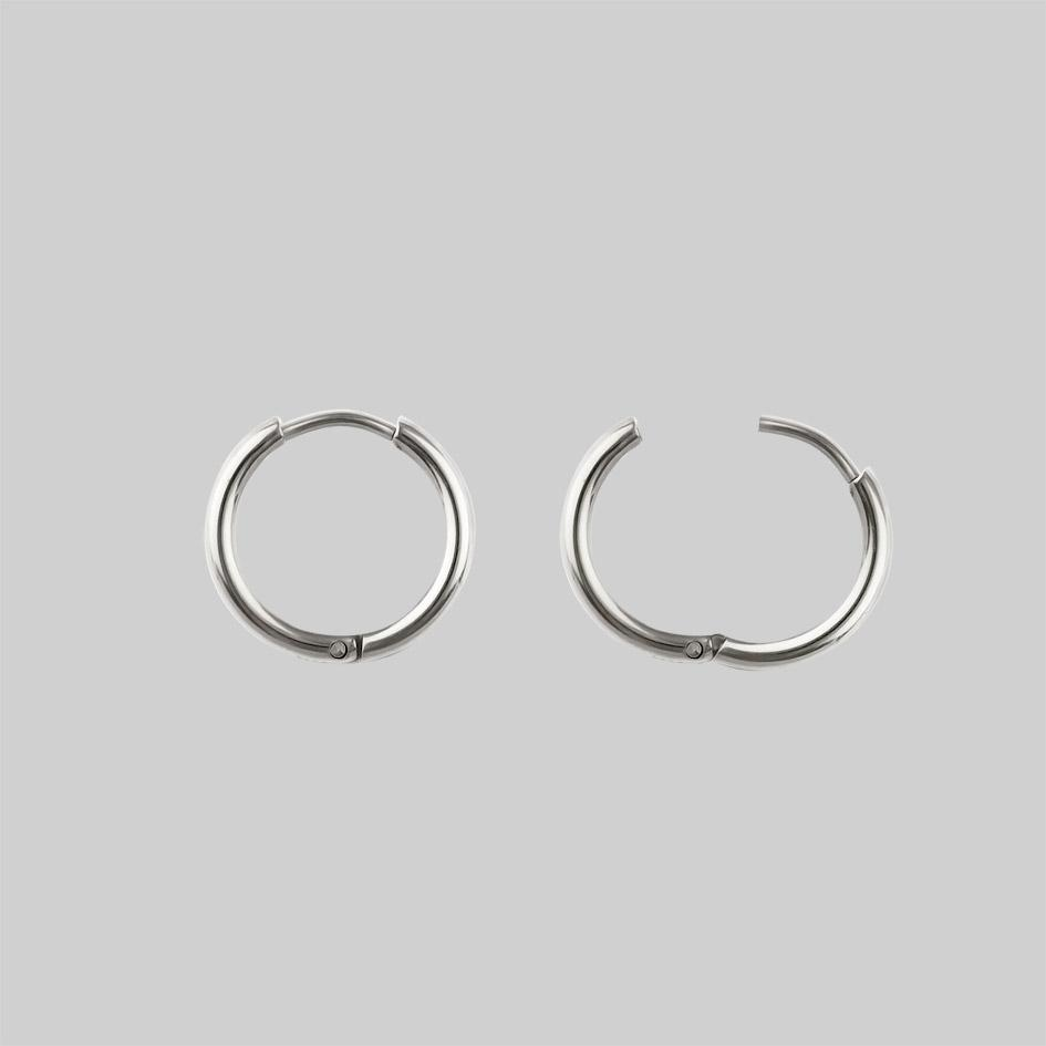 AYSU. Mini Moon Hoop Earrings - Silver