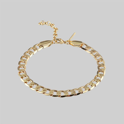 The Curb Bracelet - Gold