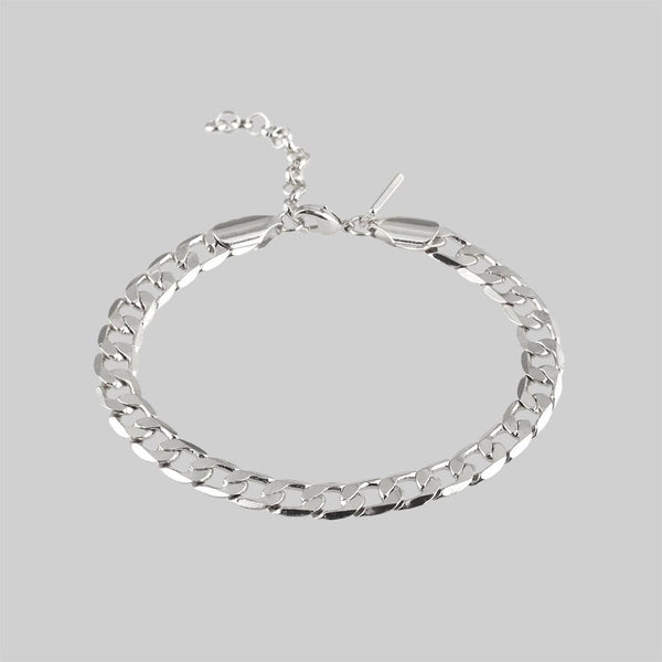 The Curb Bracelet - Silver
