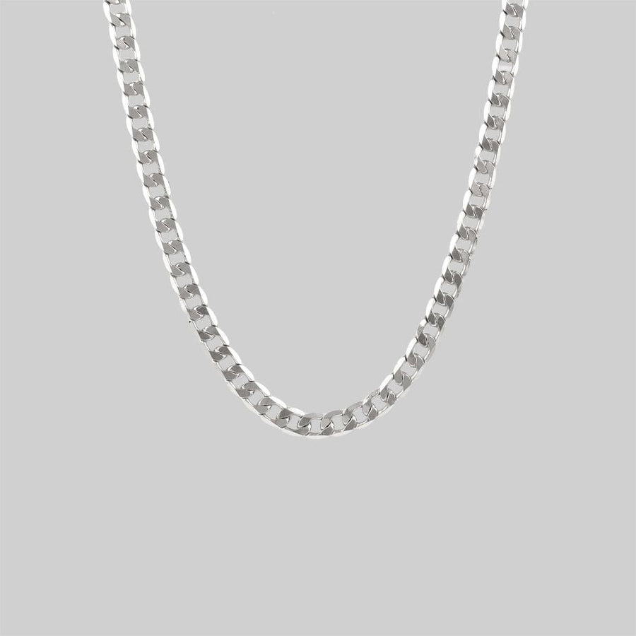 Silver chunky chain necklace