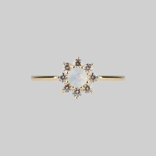 ELOISE. Simple Opal Cluster Gold Ring