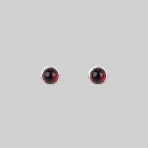 LUST. Garnet Earrings  - 4mm