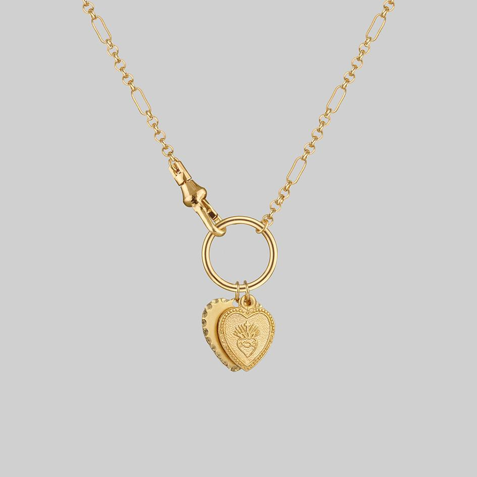 Gold-double-heart-charm-necklace