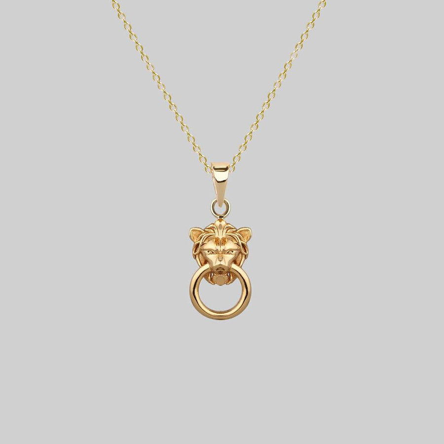MINI ANWAR. Lion Knocker Necklace - Gold