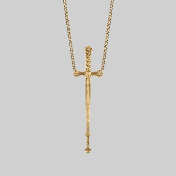 MERCY. Sword Necklace - Gold