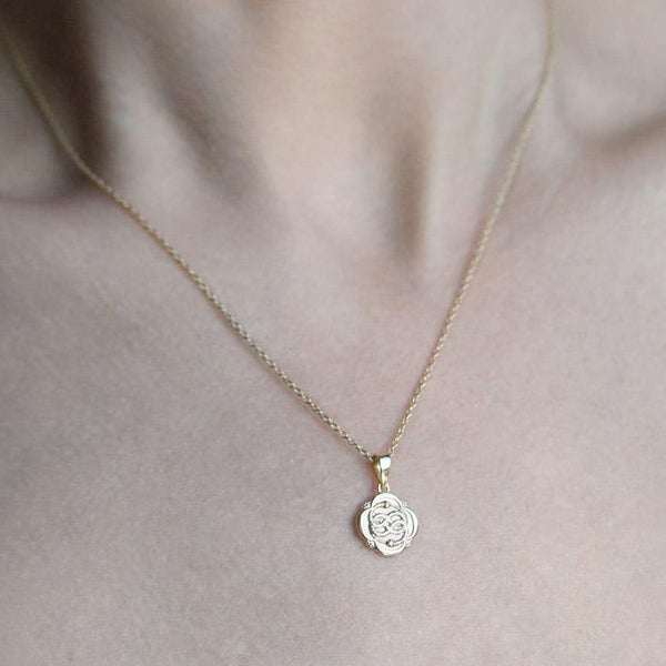 OUROBOROS. Infinite Snake Gold Medallion Necklace