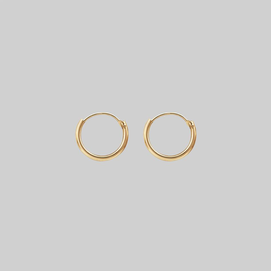 Gold plated sterling silver hoops