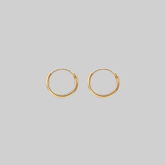 Small Gold Hoops - 12mm