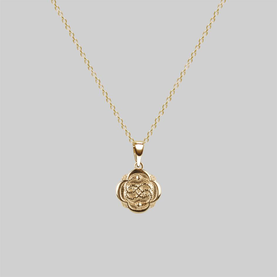 Ouroboros gold snake necklace