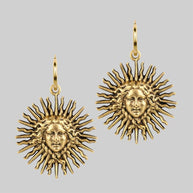 Gold sun earrings