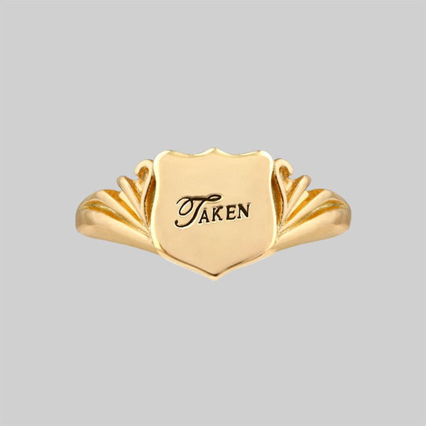 TAKEN. Shield Signet Ring - Gold