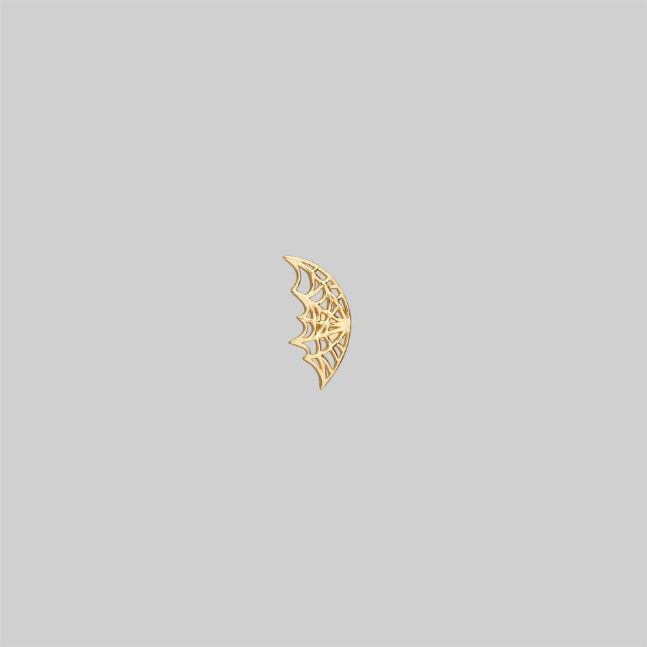 gold plated web tragus piercing