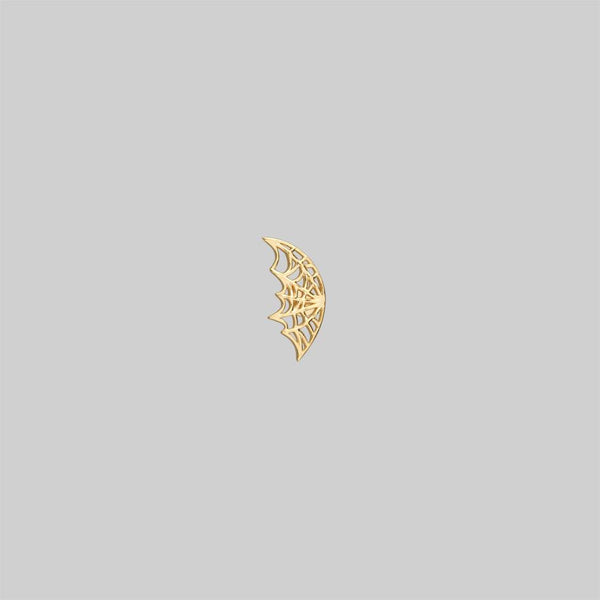 NARCISSA. Gold Web Stud Earring - Tragus