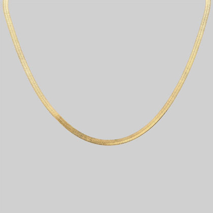 The Herringbone Chain - Gold