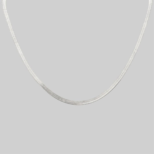 The Herringbone Chain - Silver