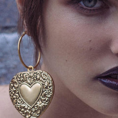 love heart locket earrings