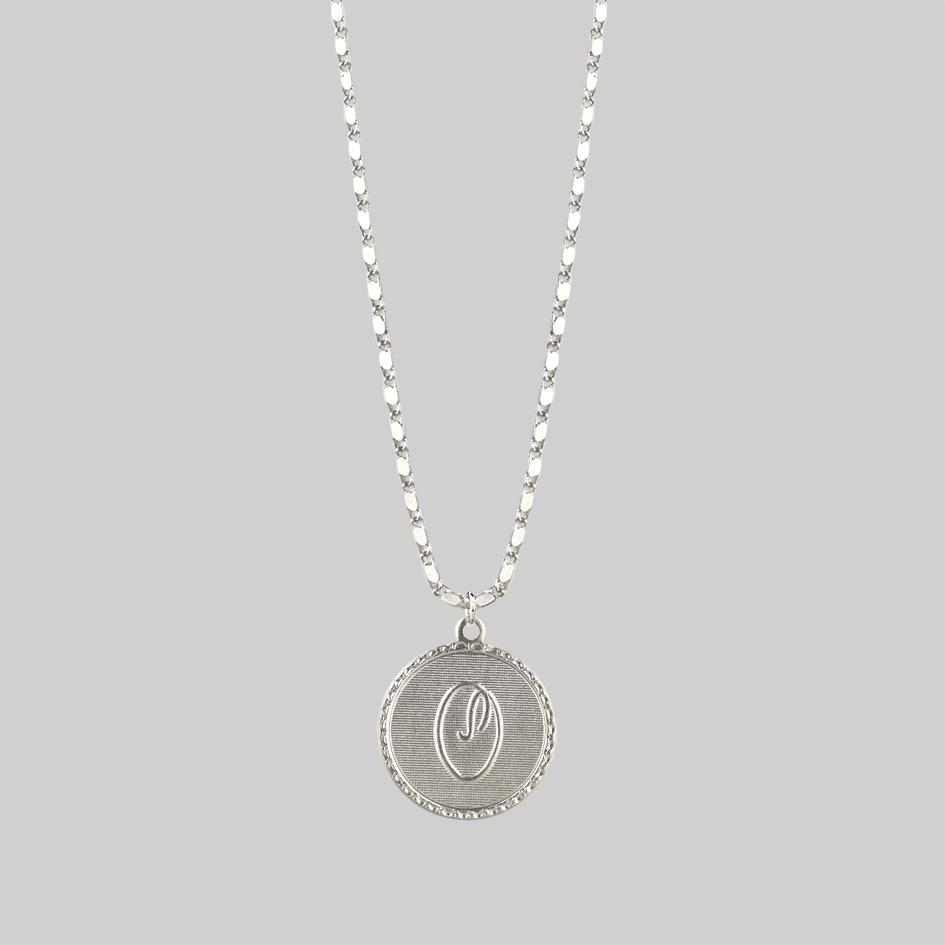 Initial Medallion Silver Necklace (N - Z)