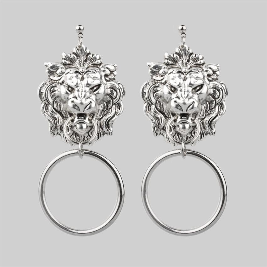 Lion Head Door Knocker Earrings