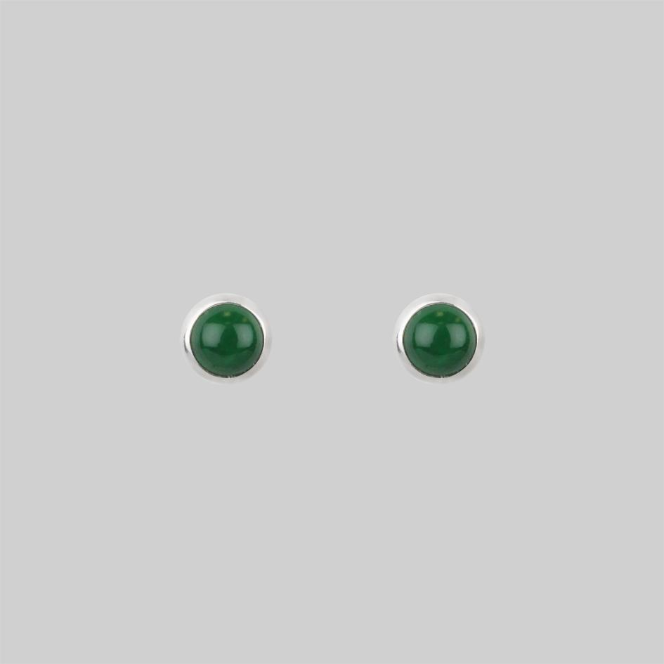 Malachite tiny gemstone studs