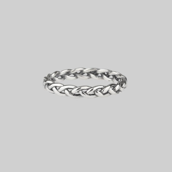 CHIPETI. Plait Band Silver Ring