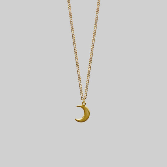 AYSU. Mini Moon Crescent Necklace - Gold