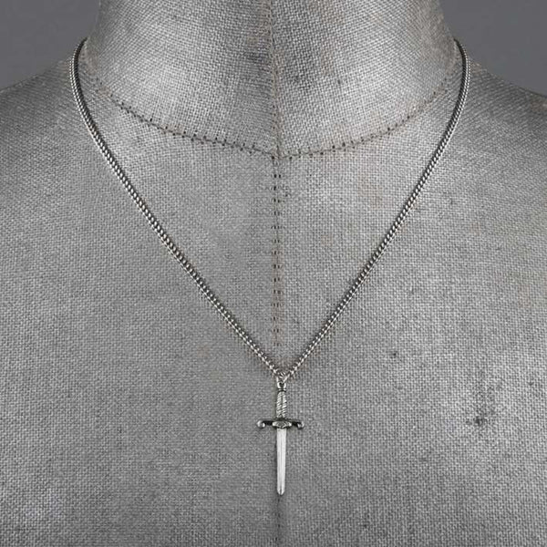 TRUST. Dagger Necklace - Silver